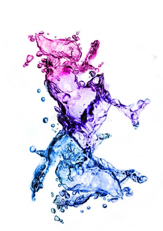 färgstänkvatten arkivfoto