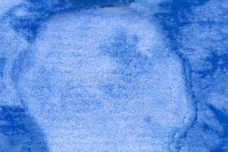Färgstark, blå texturerad bakgrund Blå konsmålning Designelement Uttryckt blått tryckfärgspunkt Blå konstnärlig illustration arkivfoton