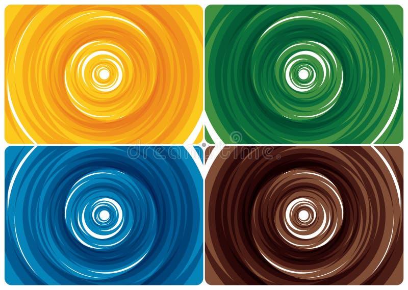 färgswirl royaltyfri illustrationer