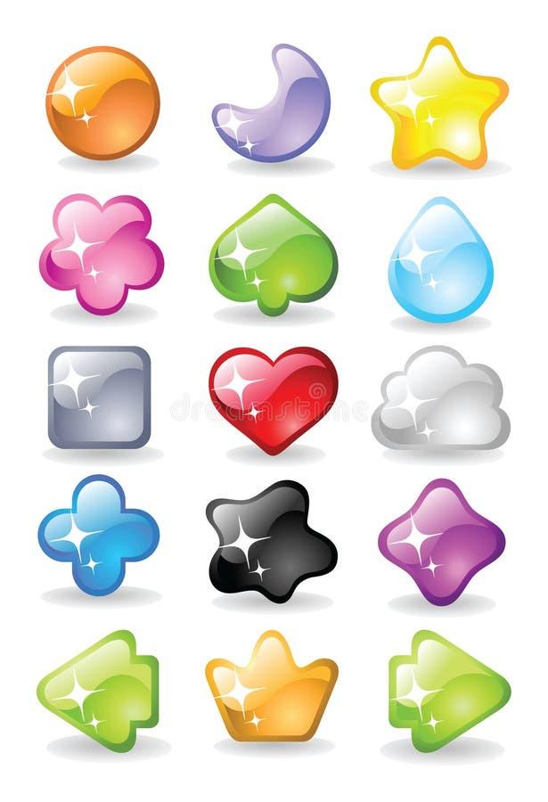 Färgsymboler stock illustrationer