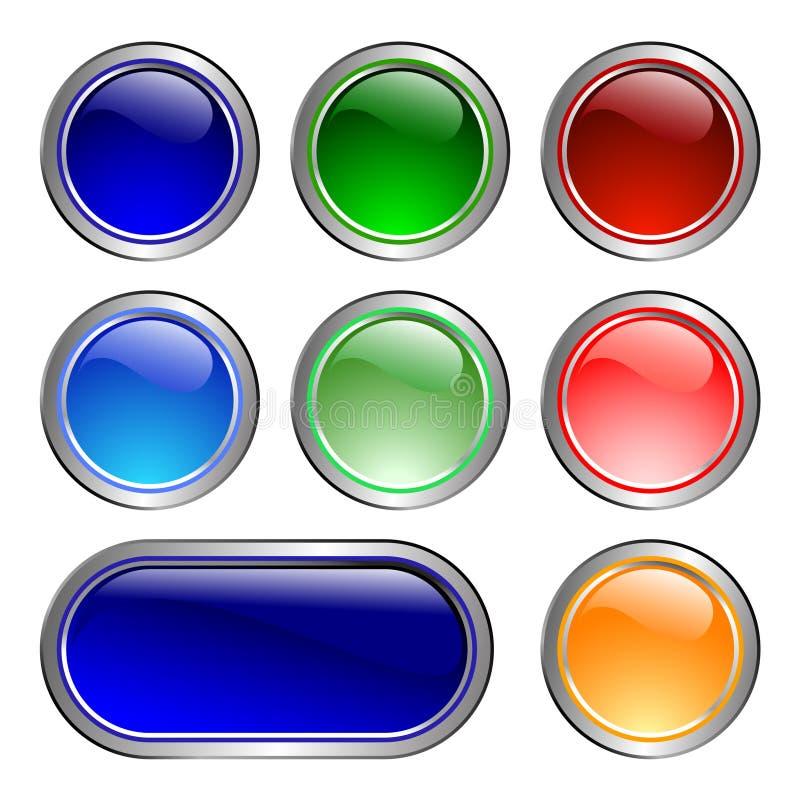 färgsymboler vektor illustrationer