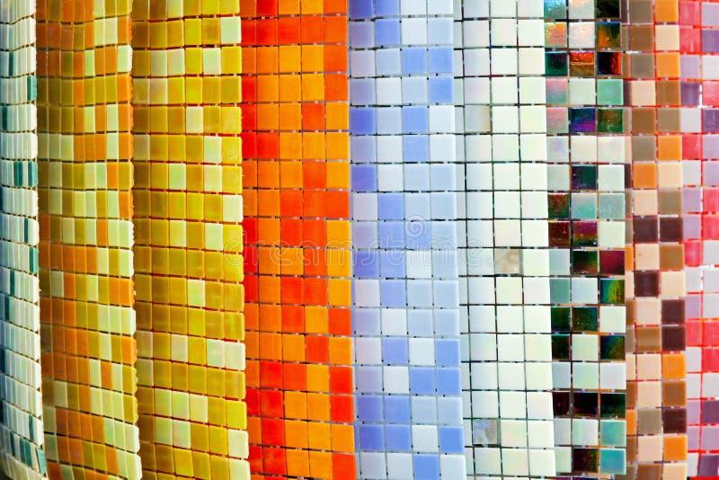 färgtegelplattor arkivbild