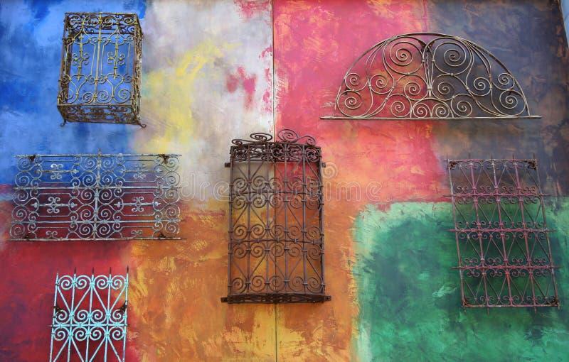 färgvägg fotografering för bildbyråer