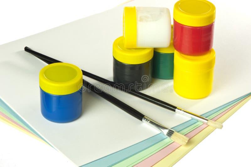 färgvatten fotografering för bildbyråer
