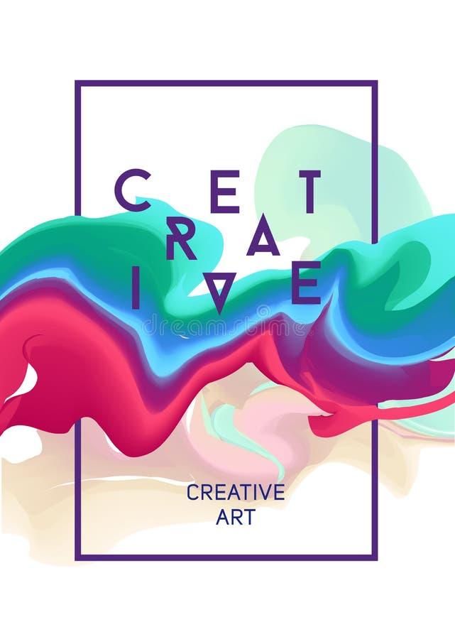 Färgvektoraffisch Ljust abstrakt färgpulver för en olik design royaltyfri fotografi