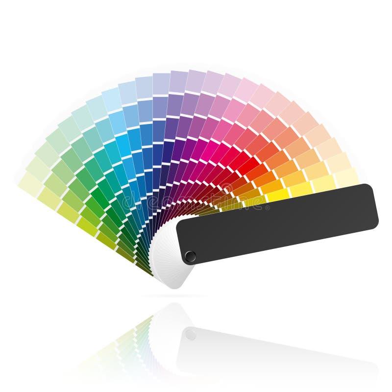 färgventilator royaltyfri illustrationer
