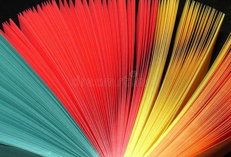 färgventilator arkivfoto
