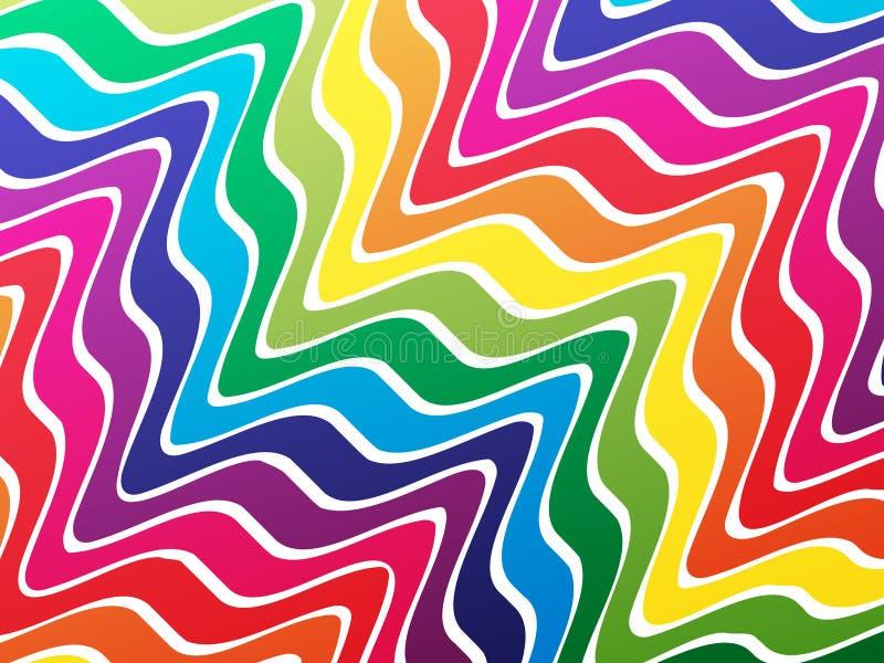 färgwaves stock illustrationer