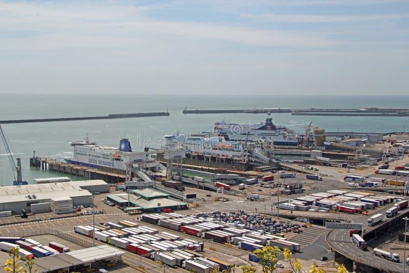 Färjaport Dover Docks fotografering för bildbyråer