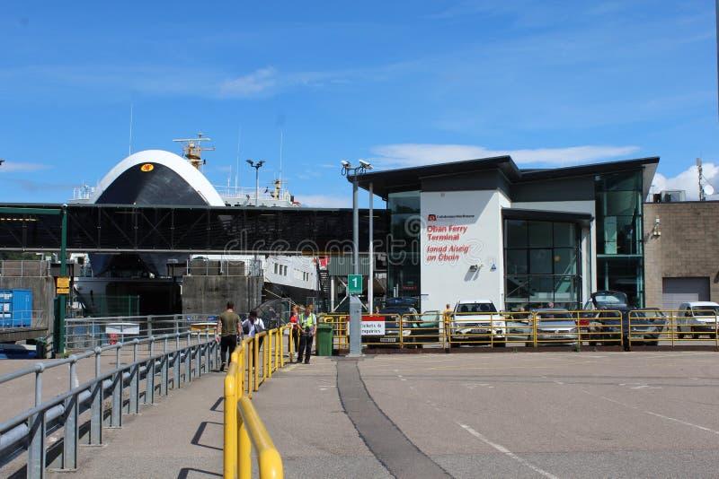 Färjaterminal Oban, Skottland royaltyfria bilder