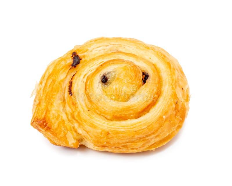 Färskt danskt bakverk, bakade kakor, ostpaj isolerad på vit bakgrund royaltyfria bilder