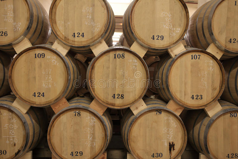 Fässer Weinbrand stockbilder