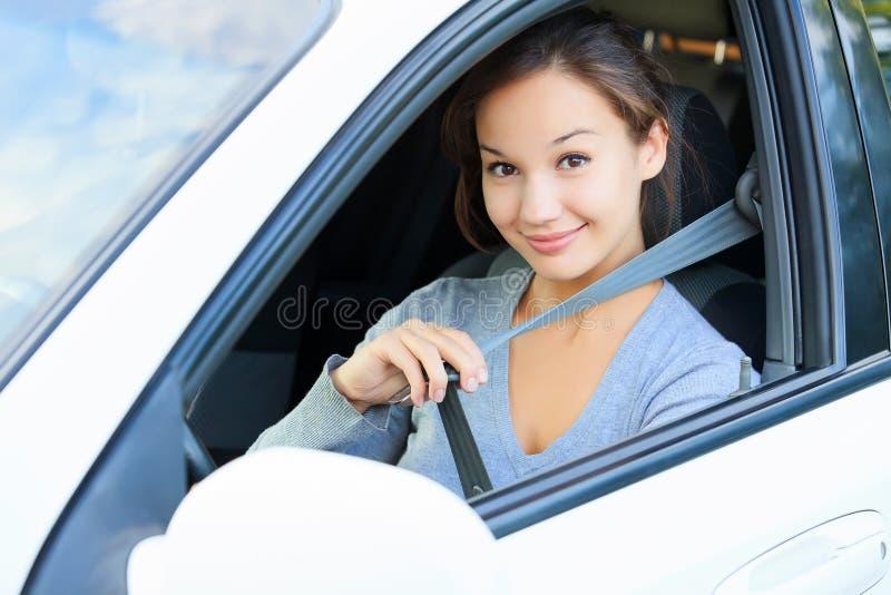 fäst det ditt bilbältet royaltyfri bild