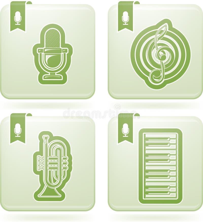 fästande ihop den digitala bland annat musikbanor för symboler illustrationen skrapar vektor illustrationer