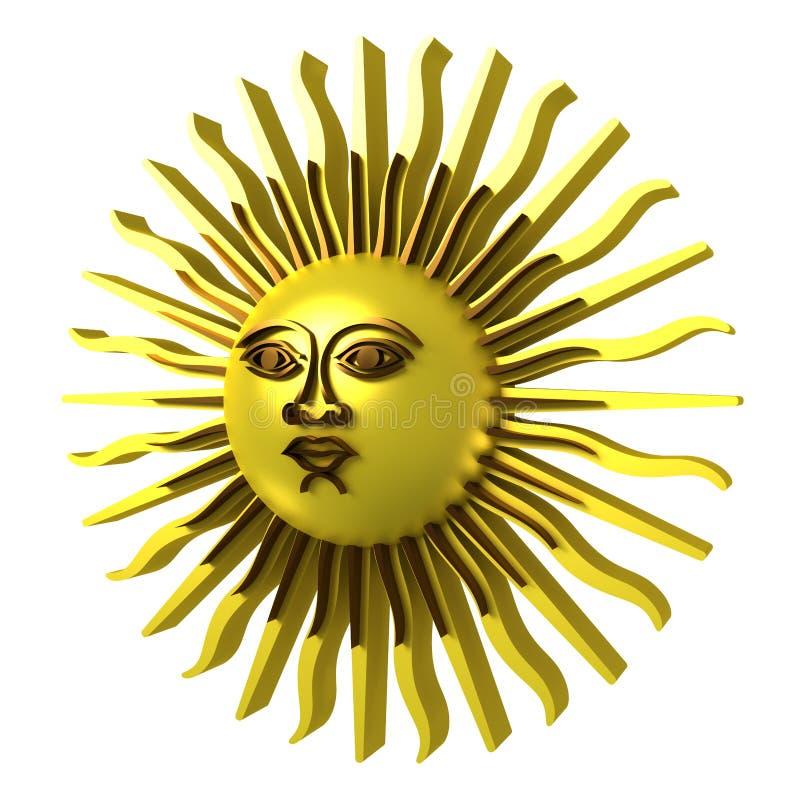 fästande ihop guld- bland annat banasun royaltyfri illustrationer
