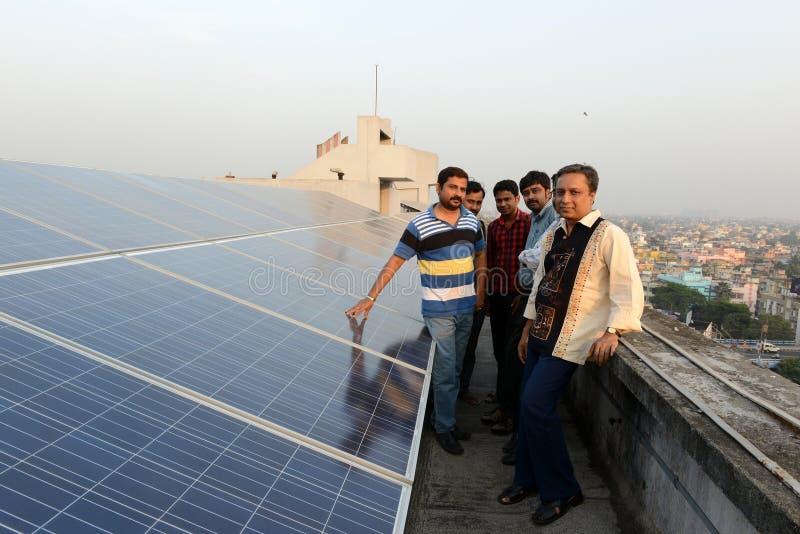 fästande ihop jord fokuserar venusen för systemet för kvicksilverbanan den sol- royaltyfri foto