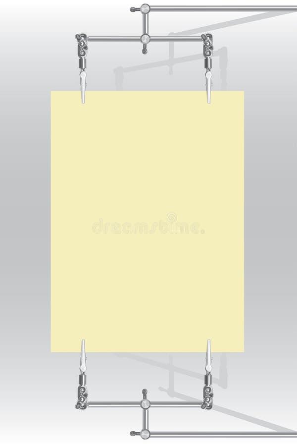 fäster vektorn för arket för cm-metallpapper ihop stock illustrationer