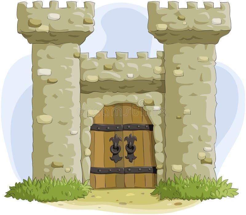 fästning stock illustrationer