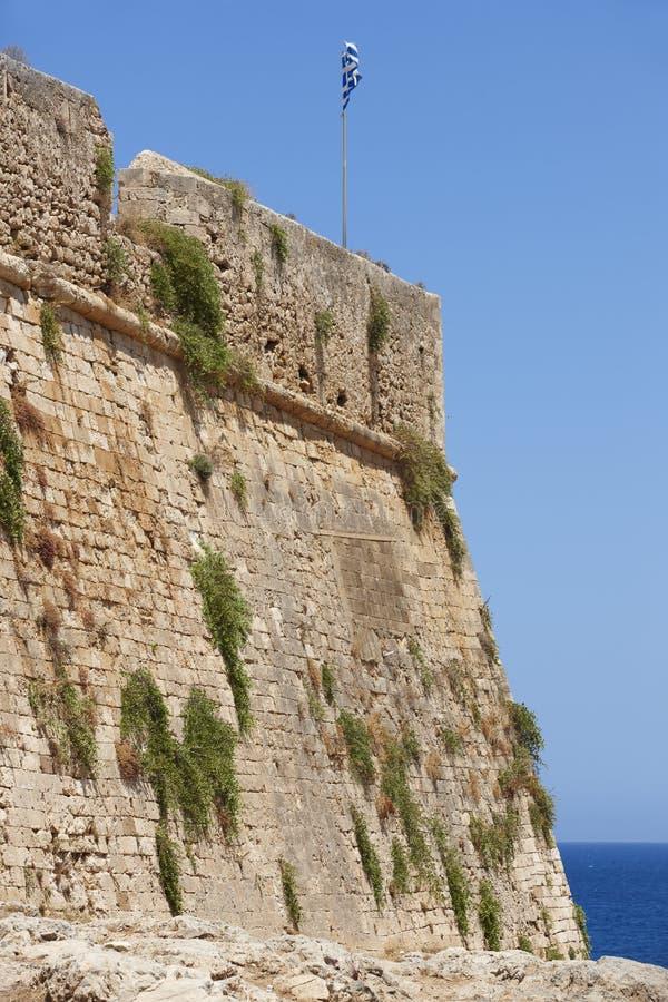 Fästning av Fortezza i Rethymno crete Grekland royaltyfria bilder