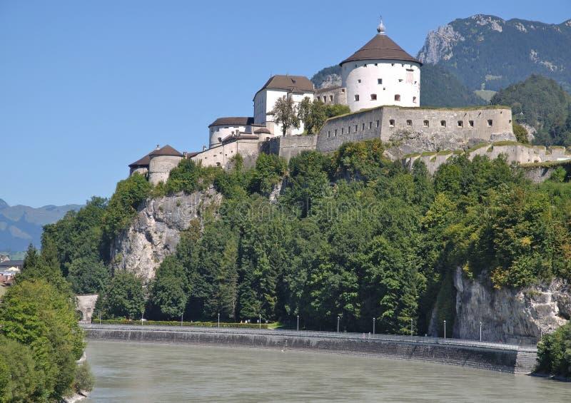Fästning av Kufstein, Tirol, Österrike royaltyfri fotografi