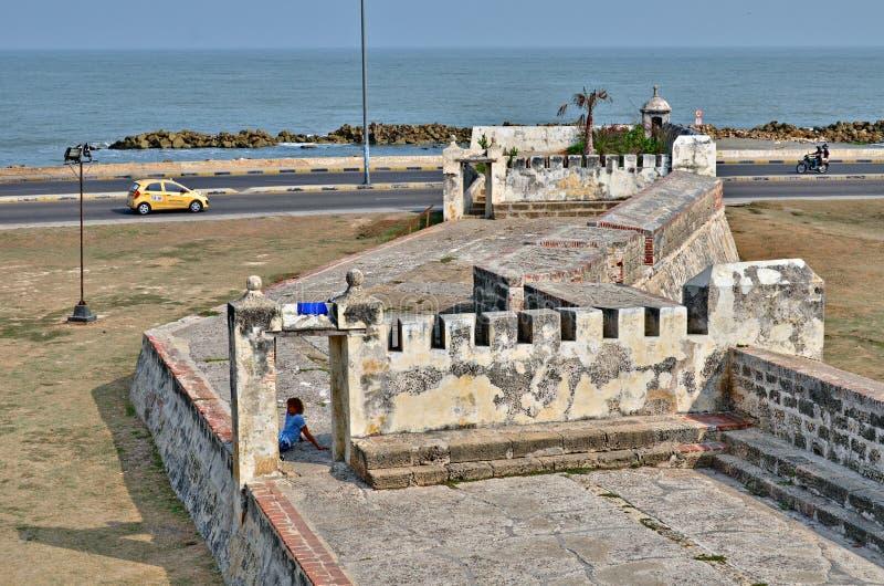 Fästning Cartagena Colombia royaltyfri bild