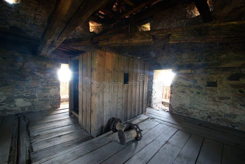 fästning gammala transylvania royaltyfria bilder