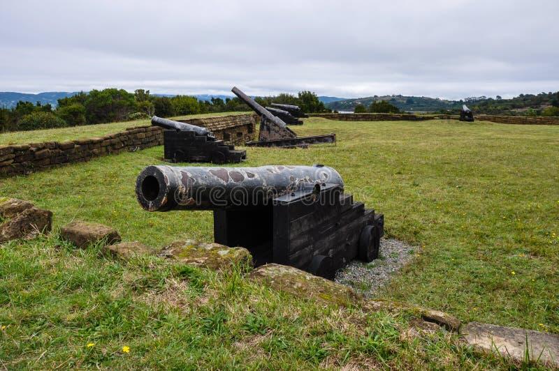 Fästning i Ancud, Chiloe ö, Chile royaltyfria bilder