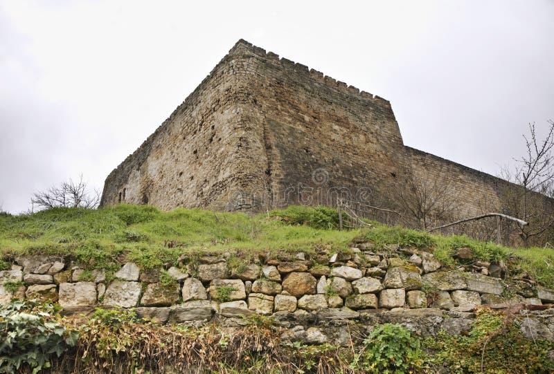 Fästning i Jajce stämma överens områdesområden som Bosnien gemet färgade greyed herzegovina inkluderar viktigt, planera ut territ royaltyfria foton