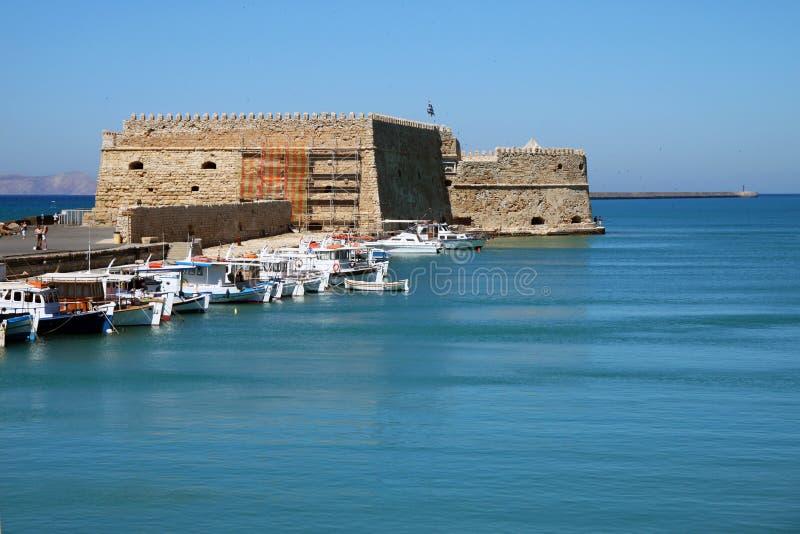 Fästning KOULES i Heraklion royaltyfria bilder