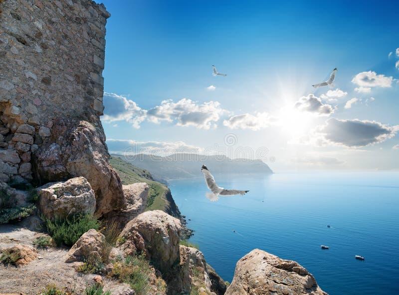 Fästning nära havet royaltyfri bild
