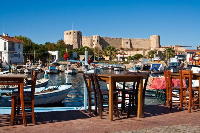 Fästning på Bozcaada, Turkiet royaltyfri foto