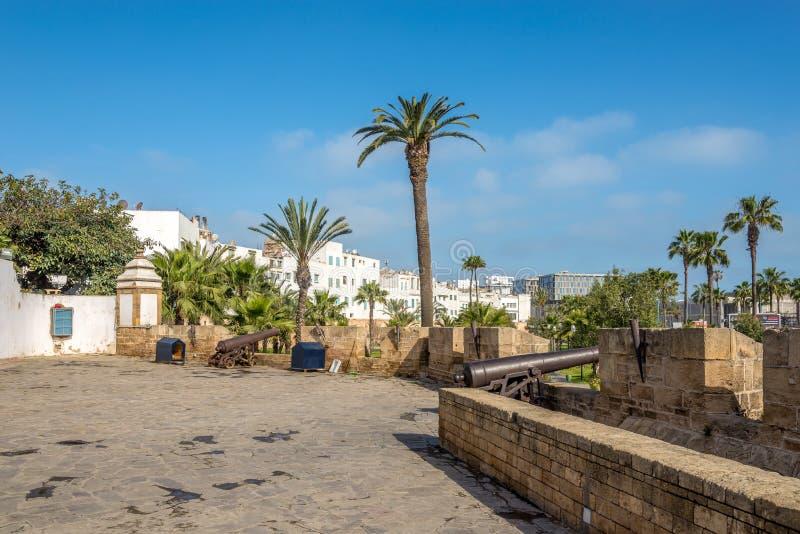 Fästning Skala i Casablanca - Marocko fotografering för bildbyråer