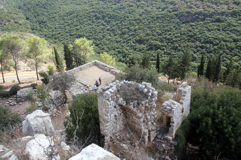 Fästning Yehiam arkivbild