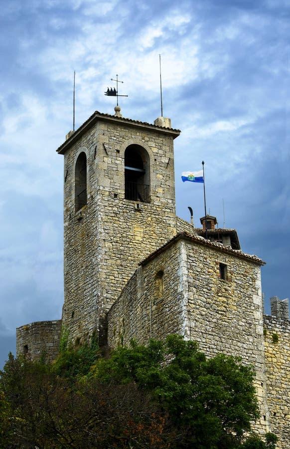 Fästningdella Rocca Guaita i San Marino royaltyfria bilder