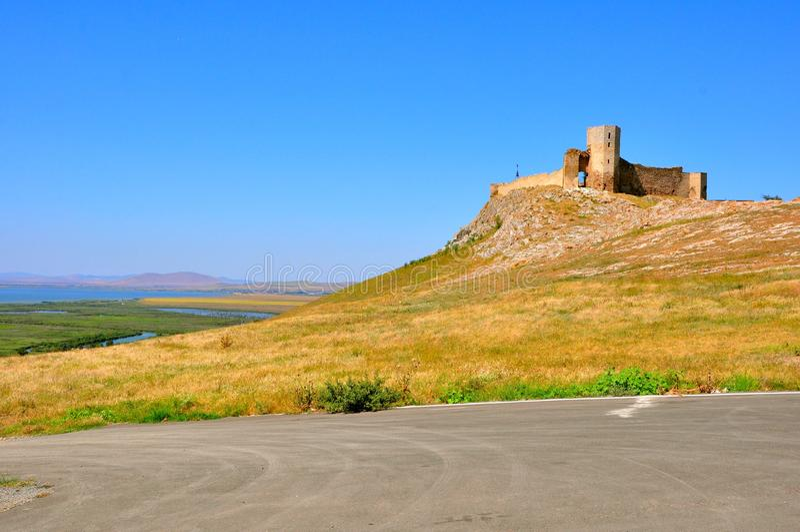 fästningen romania fördärvar royaltyfri foto