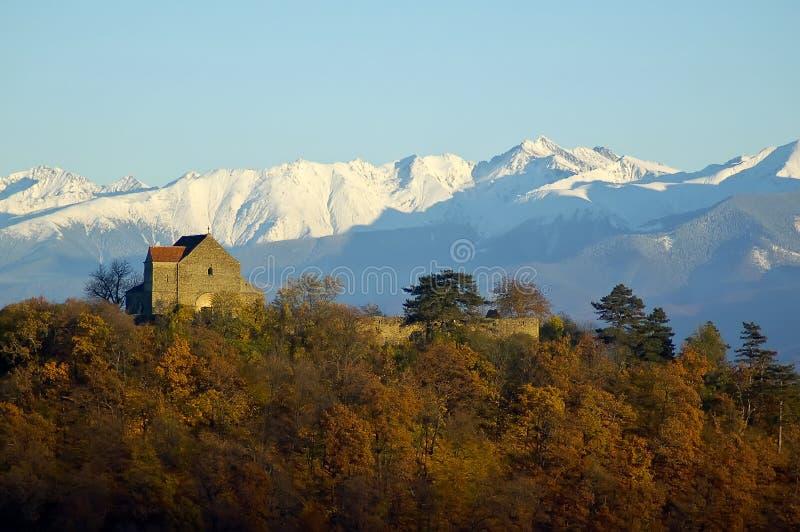 fästningliggande transylvania royaltyfri fotografi