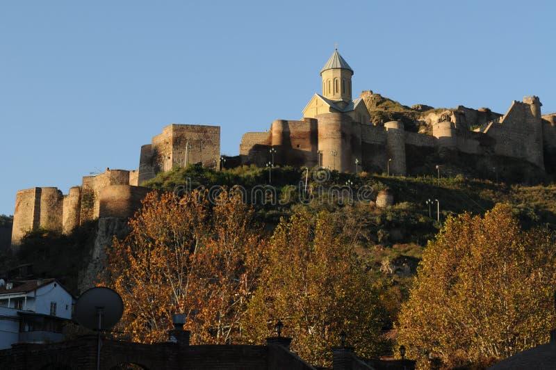 fästningnarikala tbilisi royaltyfri foto