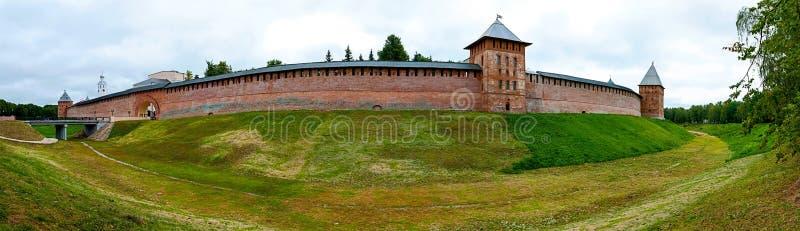 FästningNovgorodsky Kreml i staden stora Novgorod, Ryssland arkivfoto