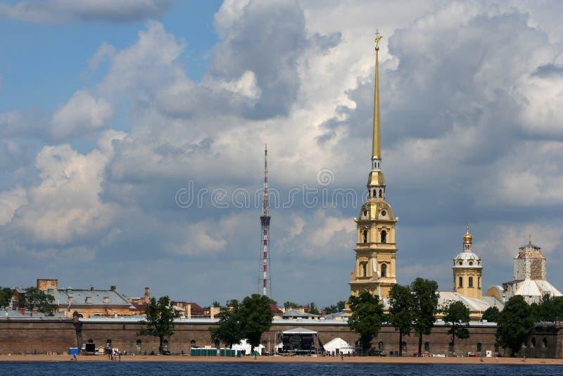 fästningpaul petropavlovskaya royaltyfri bild