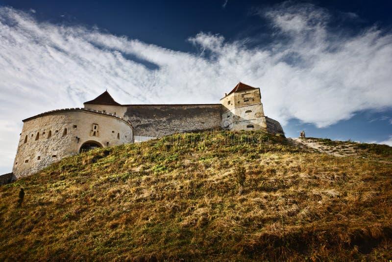 fästningrasnov romania royaltyfri bild