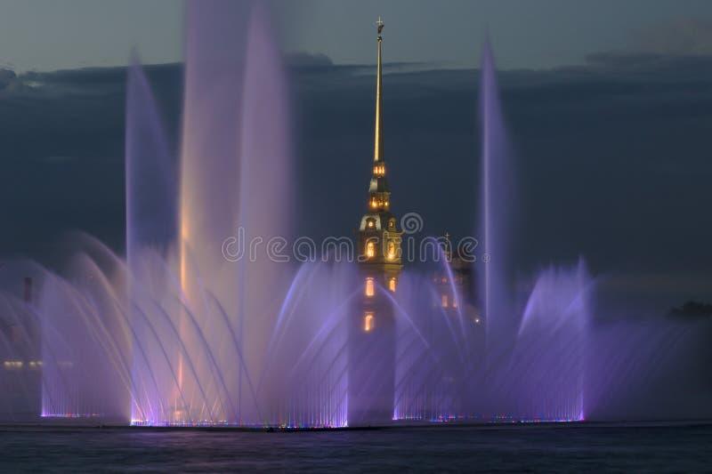 fästningspringbrunn royaltyfri bild