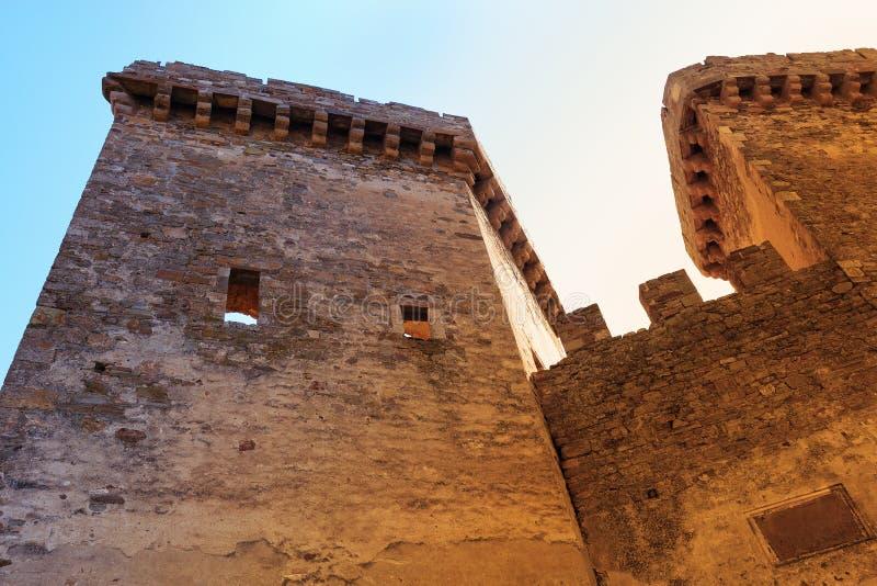 Fästningtorn royaltyfria foton