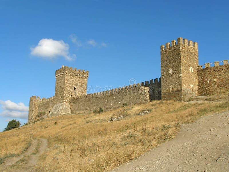 fästningtornvägg royaltyfri foto