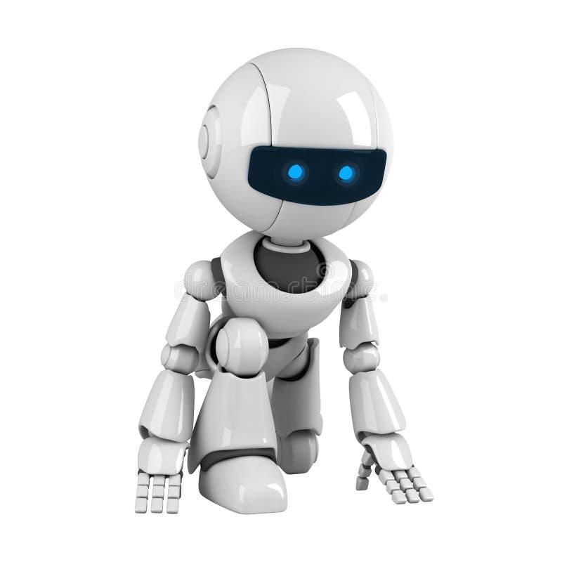 få den klara roboten körd till royaltyfri illustrationer