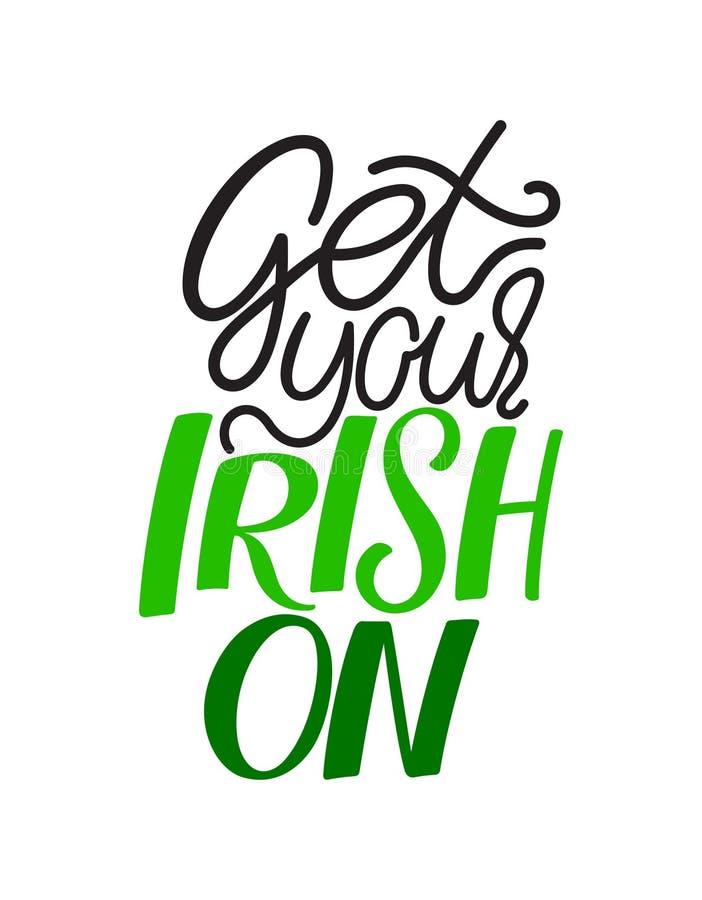 Få på din irländare royaltyfri illustrationer