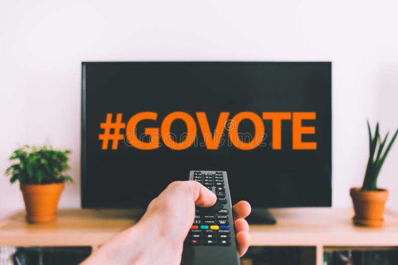 Få röstar ut arkivbild