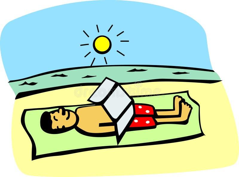 få solbränt royaltyfri illustrationer