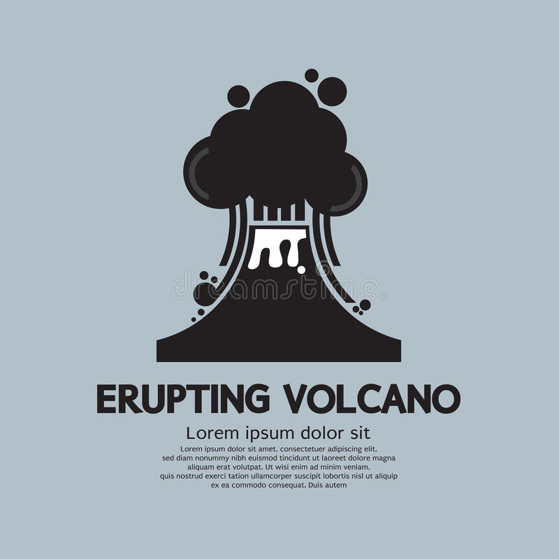 Få utbrott Volcano Natural Disaster royaltyfri illustrationer