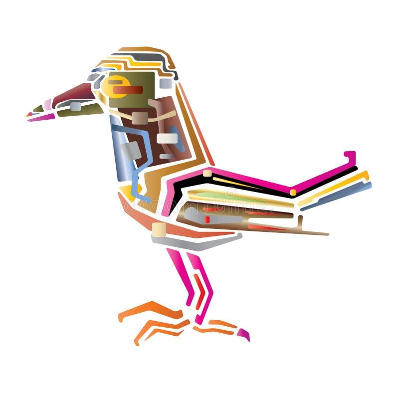 fågelöversikt stock illustrationer