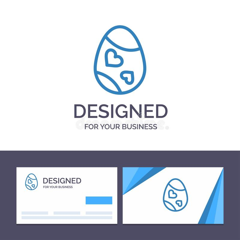 Fågel för idérik mall för affärskort och logo, garnering, påsk, ägg, hjärtavektorillustration vektor illustrationer